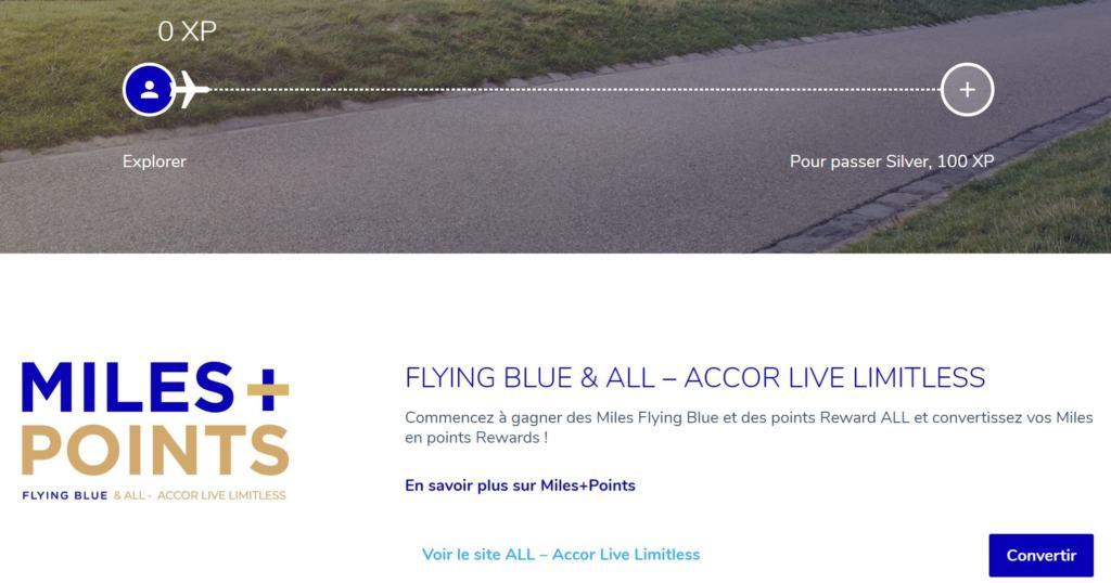 Convertir des miles Flying Blue en points Rewards Le Club AccorHotels